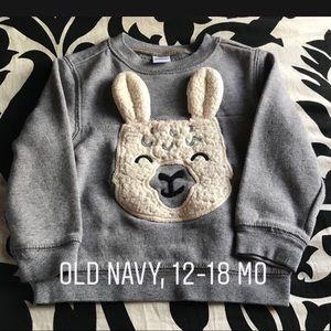 🔥Boys Old Navy llama sweatshirt - 12-18mo